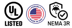 ul listed, made in the usa, nema 3r